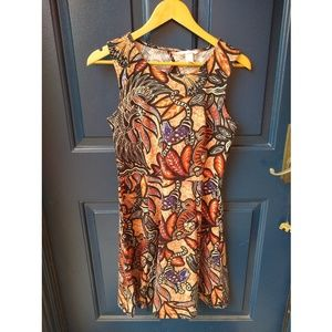 H&M   South American inspired back cutout dress
